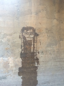 Lurking Shaman, 2015. Water on concrete.